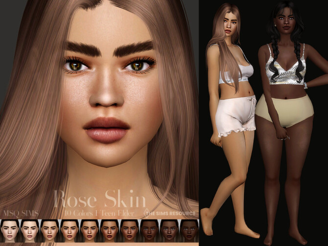 Sims 4 Rose Skin by MSQSIMS at TSR