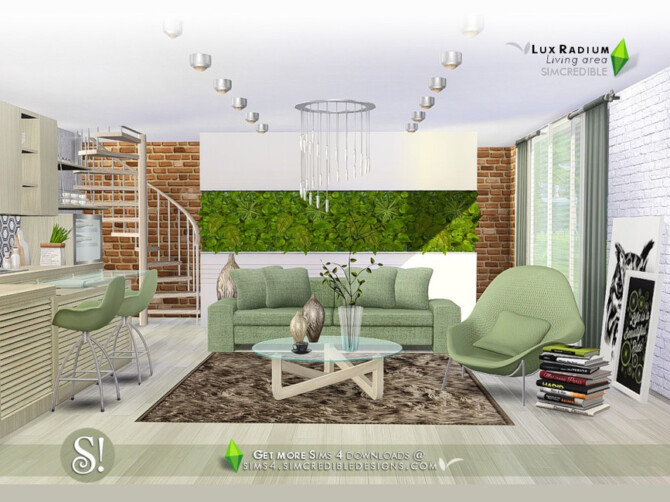 Sims 4 Lux Radium Living by SIMcredible! at TSR