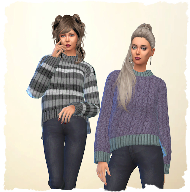 Sims 4 Warm Pullover by Chalipo at All 4 Sims
