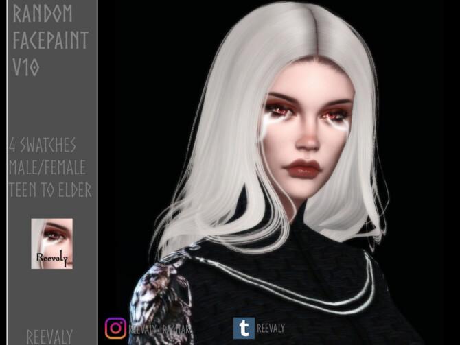 Sims 4 Random Facepaint V10 by Reevaly at TSR