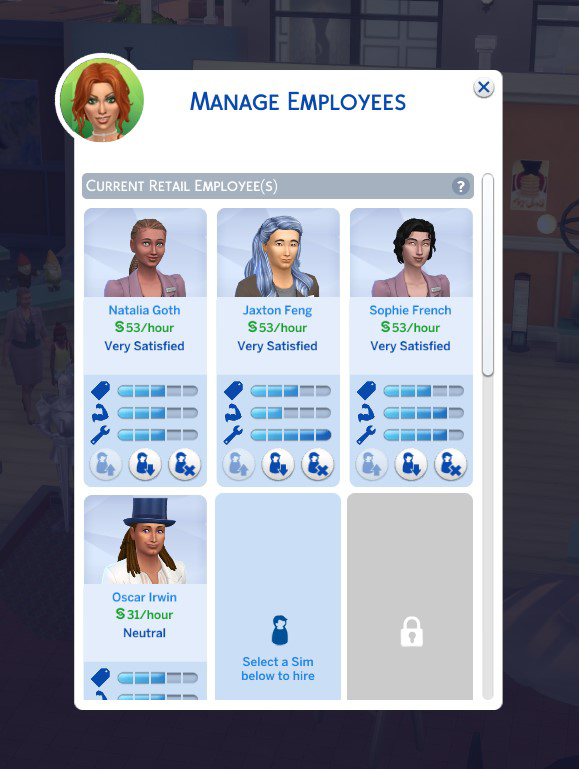 Sims 4 Hire More Retail Employees by Simmiller at Mod The Sims 4
