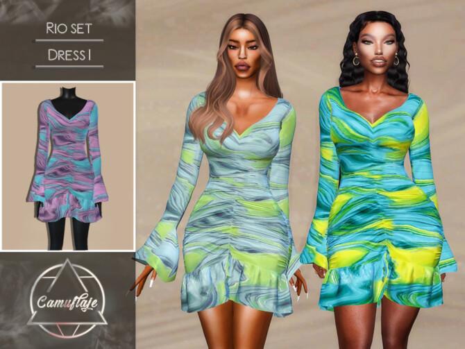 Sims 4 Rio Dresses I by Camuflaje at TSR