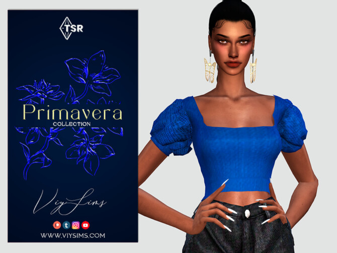 Sims 4 PRIMAVERA Collection TOP [III] by Viy Sims at TSR