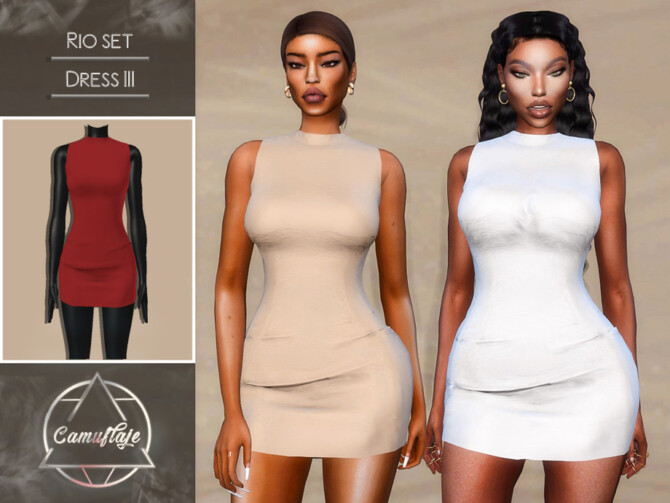 Sims 4 Rio Dresses III by Camuflaje at TSR