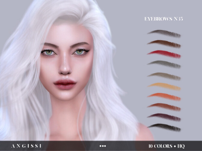Sims 4 Eyebrows n35 by ANGISSI at TSR