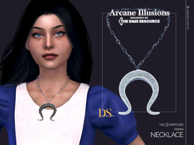 Sims 4 Arcane Illusions   Mania Necklace by DailyStorm at TSR