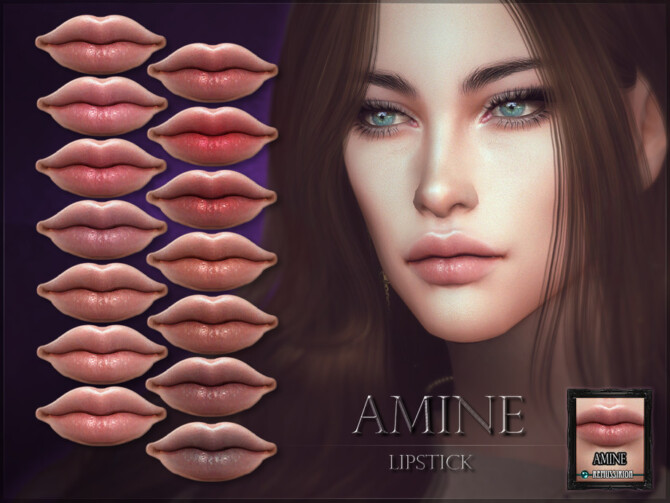 Sims 4 Amine Lipstick by RemusSirion at TSR