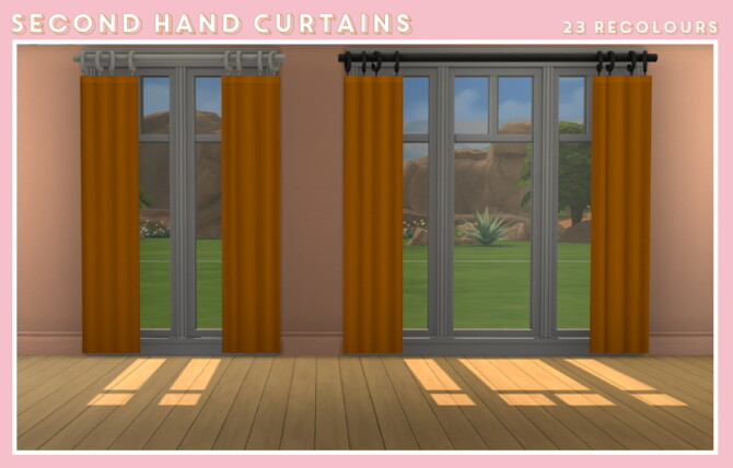 Sims 4 Second hand curtains at Midnightskysims