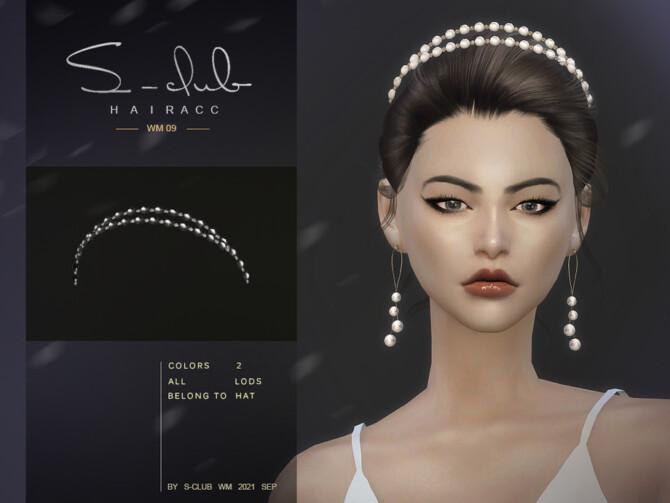 Sims 4 Pearl headband by S Club WM at TSR