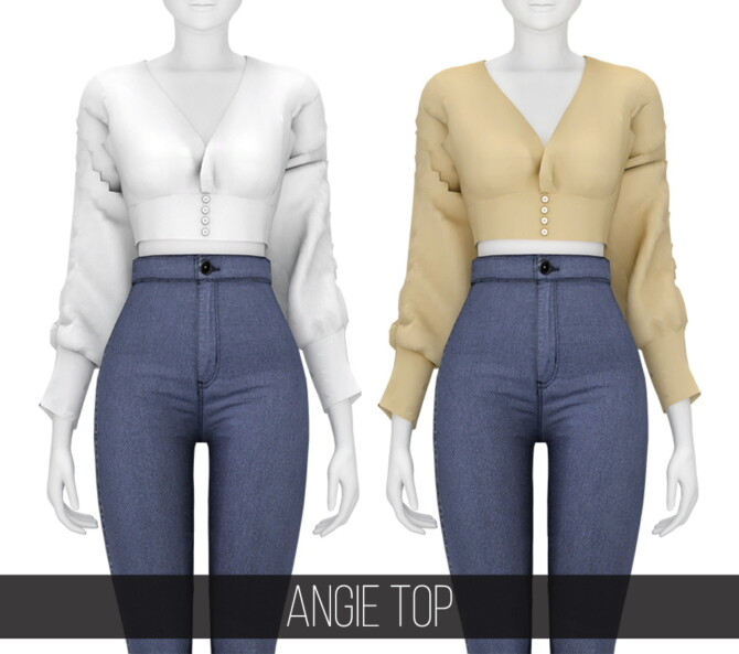 Sims 4 Angie Top at Fifths Creations