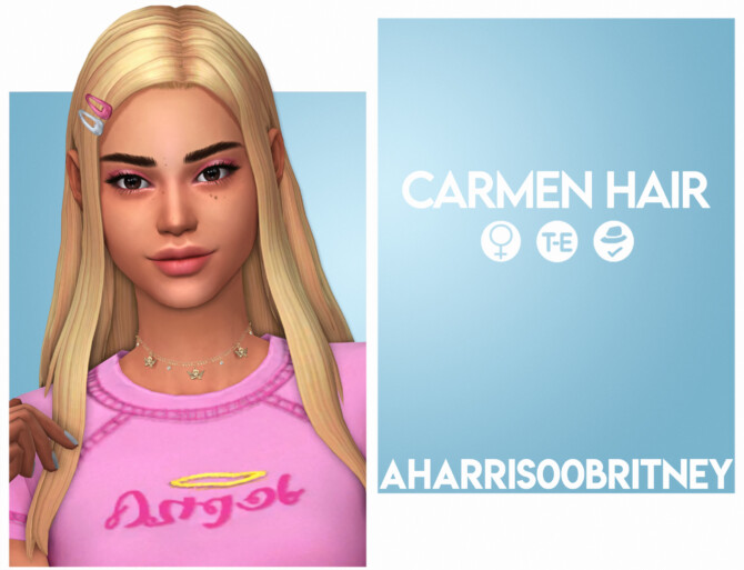Sims 4 Carmen Hair at AHarris00Britney