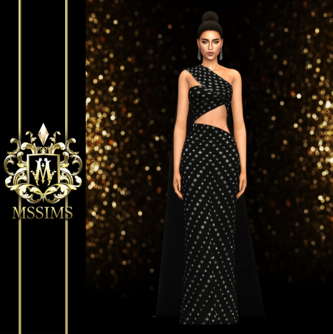 Sims 4 Chalita Gown at MSSIMS
