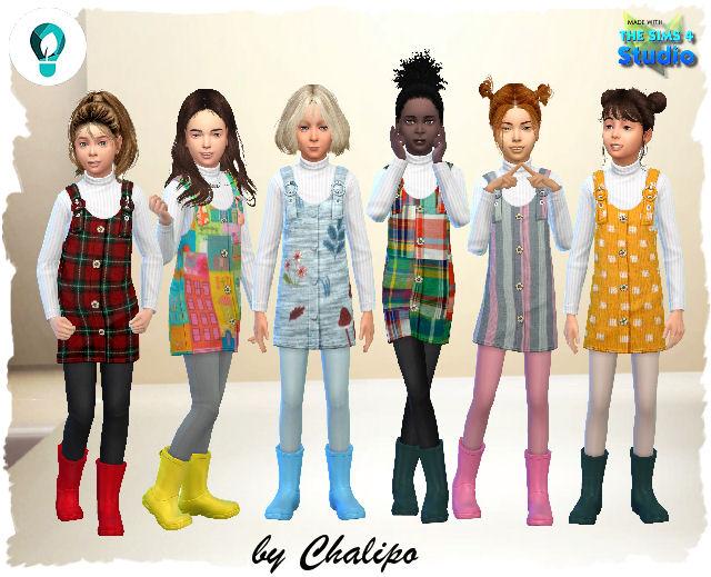 Sims 4 Oko Dress by Chalipo at All 4 Sims