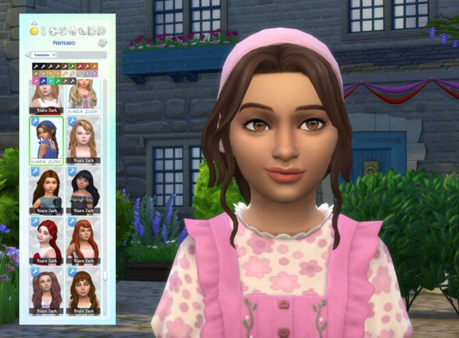 Sims 4 Braid Bandana for Girls at My Stuff Origin