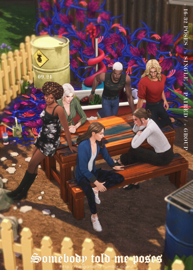 Sims 4 Somebody told me Pose Pack at Helgatisha