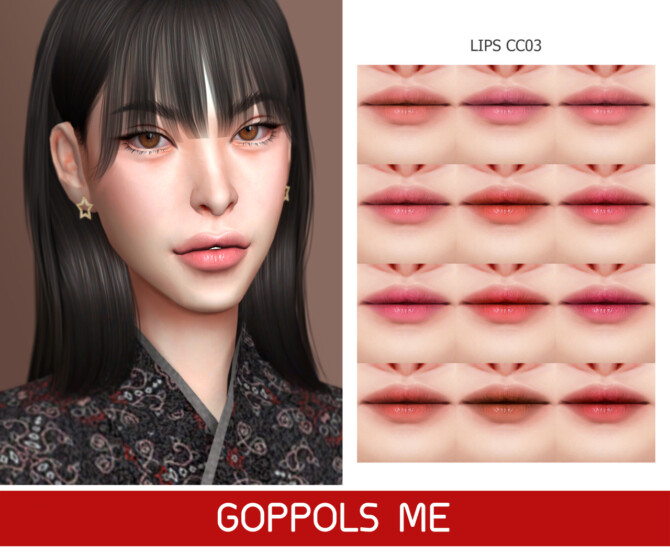 Sims 4 GPME GOLD Lips CC03 at GOPPOLS Me